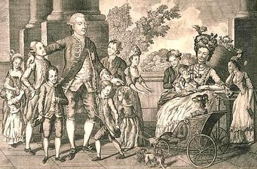 König Georg III. mit seiner Familie