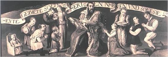 Herzog Wilhelm im Kreise siener Familie